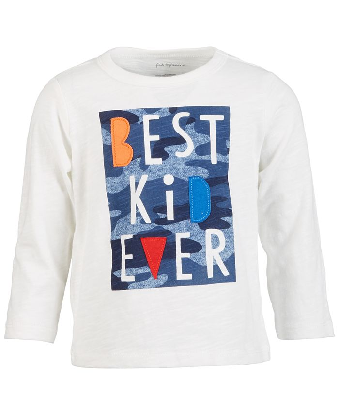 First Impressions - Baby Boys Best Kid Ever Cotton T-Shirt