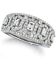 Le Vian Baguette & Round Vanilla Diamond® Ring (3/4 ct. t.w.) in Platinum