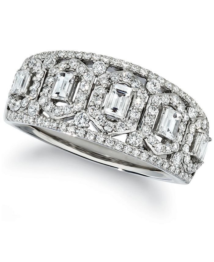 Le Vian - Baguette & Round Vanilla Diamond® Ring (3/4 ct. t.w.) in Platinum