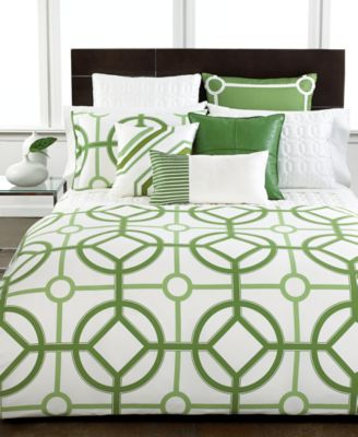 Hotel Collection Modern Trellis King Duvet Cover