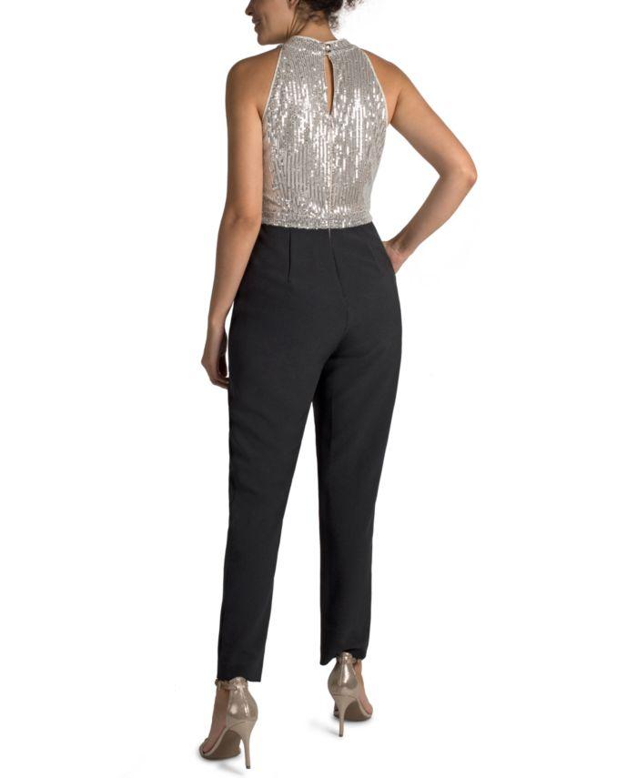 Julia jordan Sequinned-Bodice Jumpsuit & Reviews - Pants & Leggings - Women - Macy's
