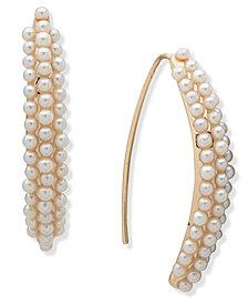 Anne Klein Pearl Threader Earrrings