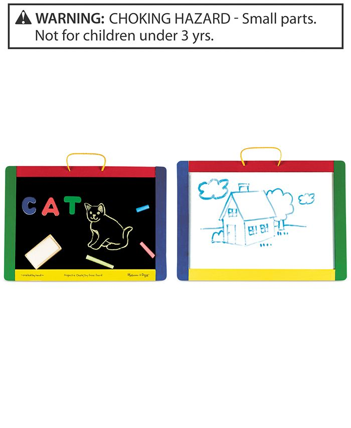 Melissa and Doug - Kids Toy, Magnetic Chalkboard and Dry-Erase Board