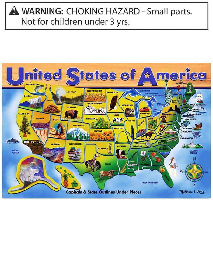 Melissa and Doug - Kids Toy, U.S.A. Map Puzzle