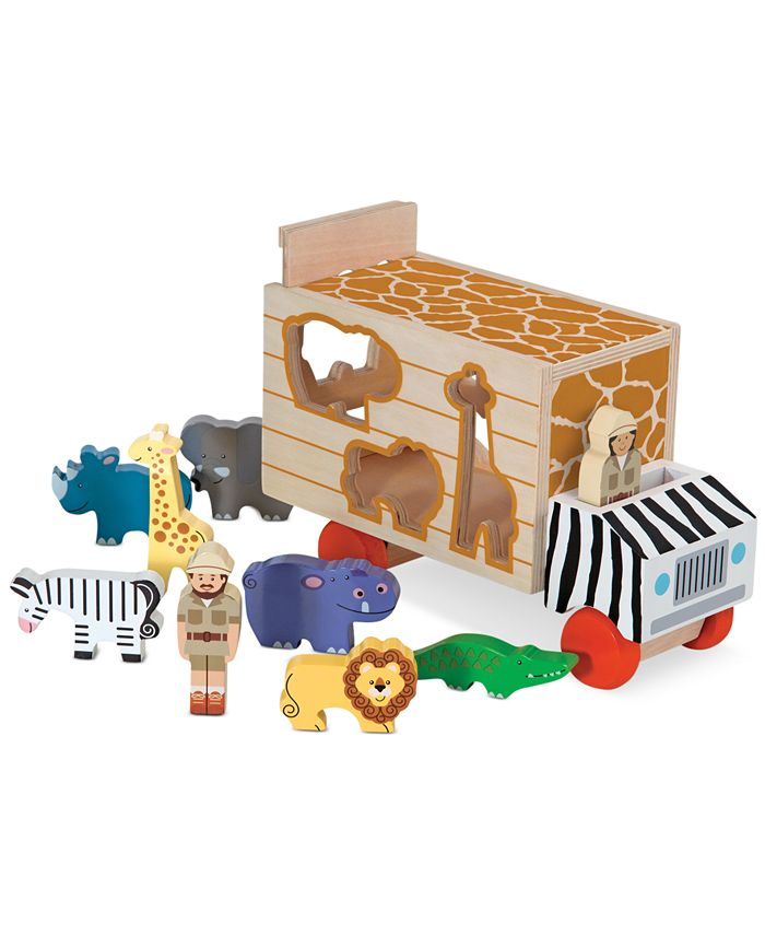 Melissa and Doug - Kids Toys, Animal Rescue Shape-Sorting Truck