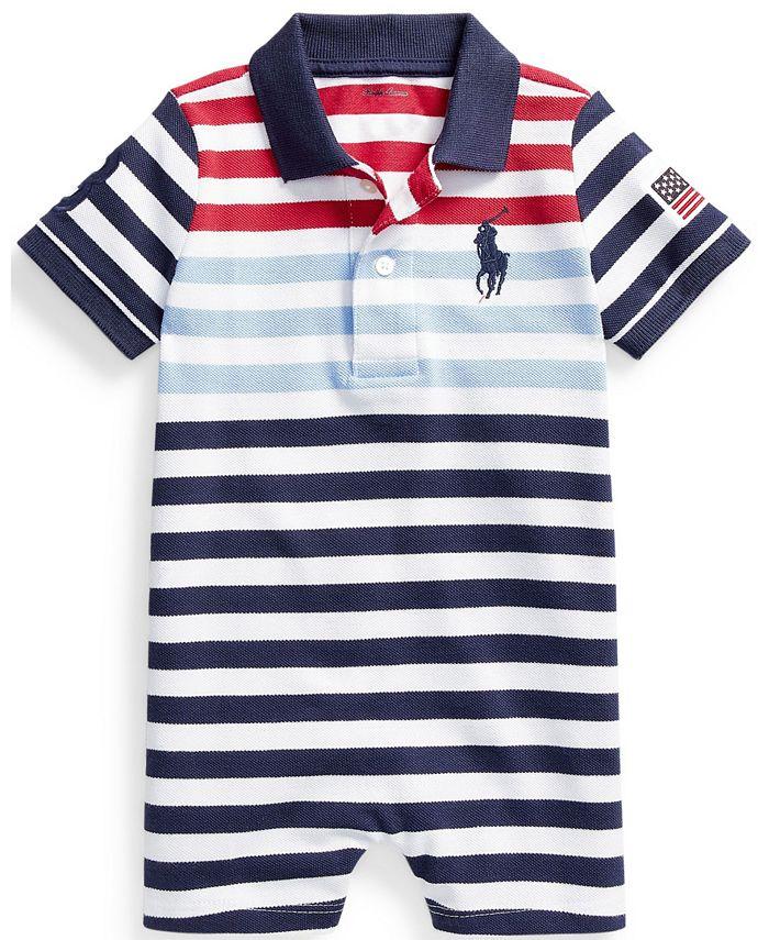 Polo Ralph Lauren - Baby Boys Cotton Mesh Polo Shortall