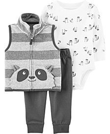 Carters Baby Boy 3-Piece Little Vest Set