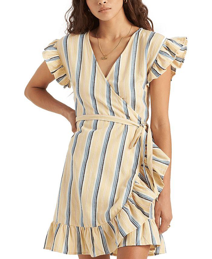 Billabong - Wrap and Roll Striped Wrap Dress