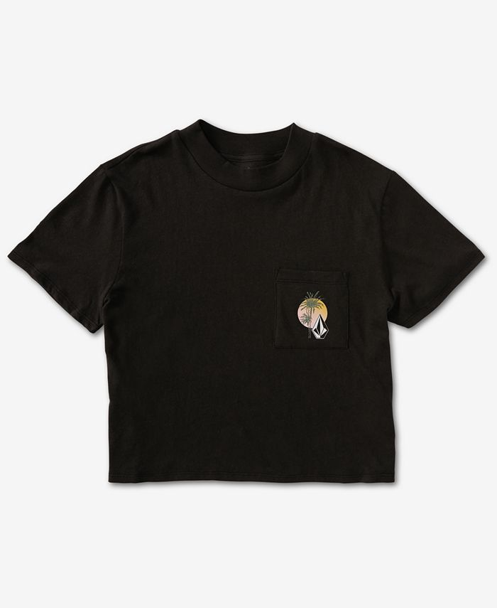 Volcom - Cotton Pocket Dial Cropped T-Shirt