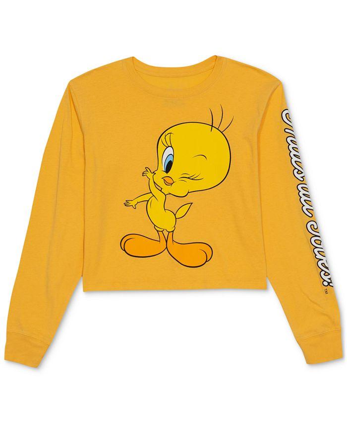 Warner Brothers - Juniors' Tweety Long-Sleeve T-Shirt