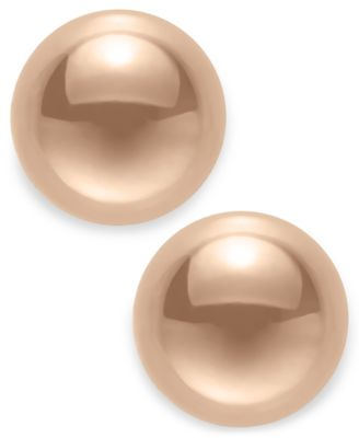 Gold Ball Stud Earrings (8mm) in 14k Yellow, White or Rose Gold