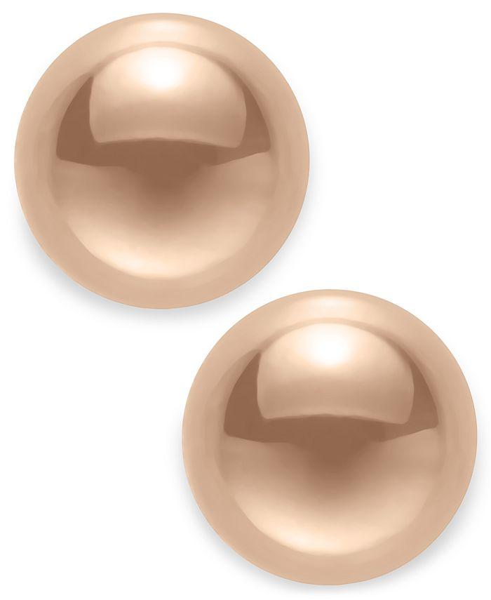 Macy's - 14k Yellow Gold Stud Earrings (8mm)