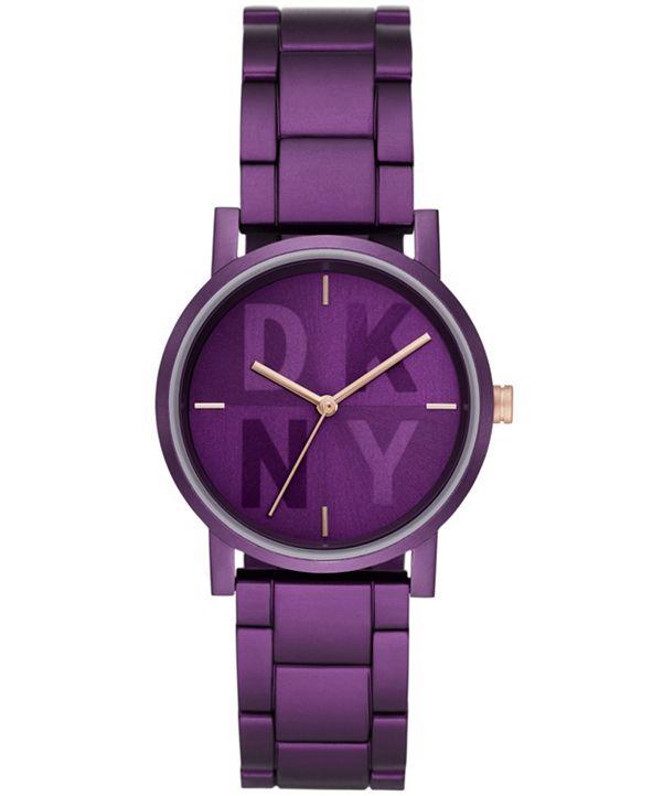 DKNY Women's SOHO Purple Aluminum Watch, 34mm