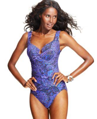 Miraclesuit escape one piece swimsuit swimwear women macy s
