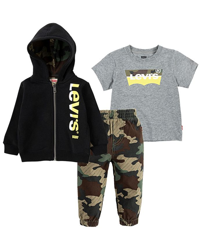 Levi's - Baby Boys T-Shirt, Joggers and Zip Hoodie Set