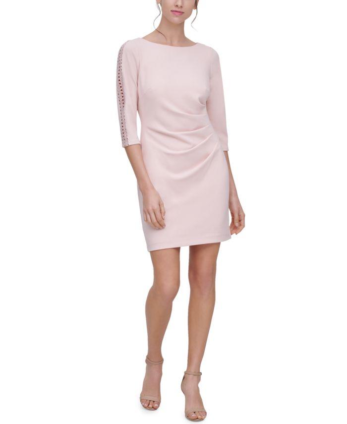 Jessica Howard Petite Lace-Trim Sheath Dress & Reviews - Dresses - Petites - Macy's