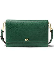 MICHAEL Michael Kors Mott Pebble Leather Phone Crossbody Wallet