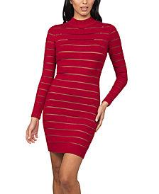 bebe Shutter-Style Sweater Dress
