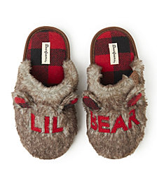 Kids Furry Big Bro, Big Sis, or Lil Bear Scuff Matching Family Slippers