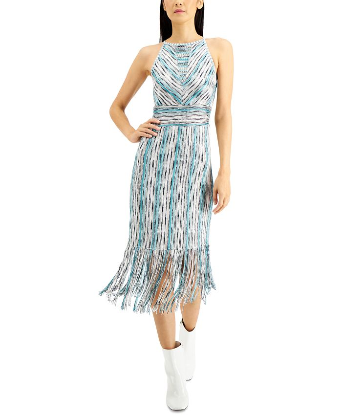 INC International Concepts - Space-Dyed Halter Dress