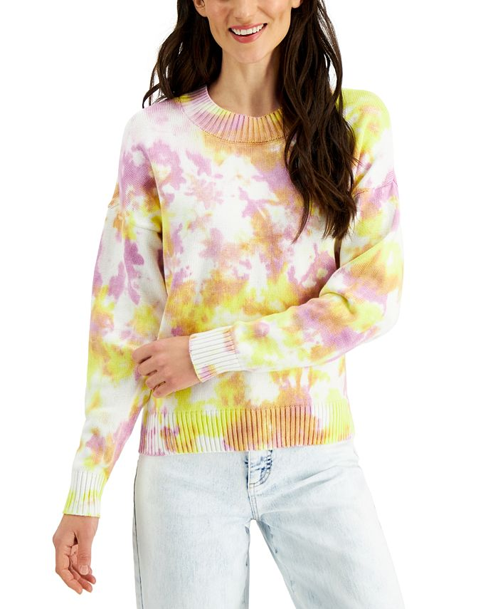 Style & Co - Cotton Tie-Dyed Sweater