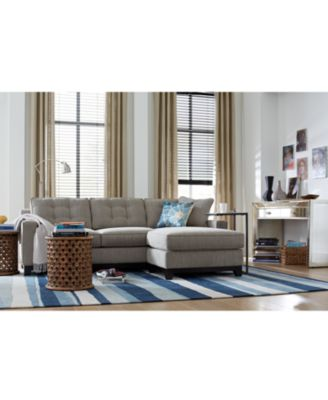 Clarke Fabric Sectional Sofa Living Room Furniture Sets u0026 Pieces Only at Macyu0027s  sc 1 st  Macyu0027s : sectional pieces - Sectionals, Sofas & Couches