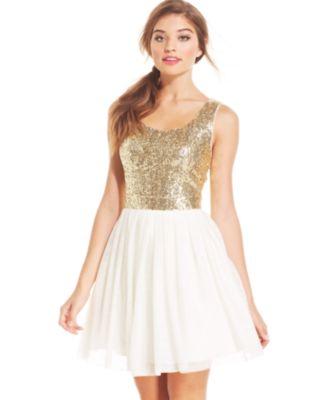 Speechelss Juniors&39 Sequin Lace Dress - Dresses - Juniors - Macy&39s
