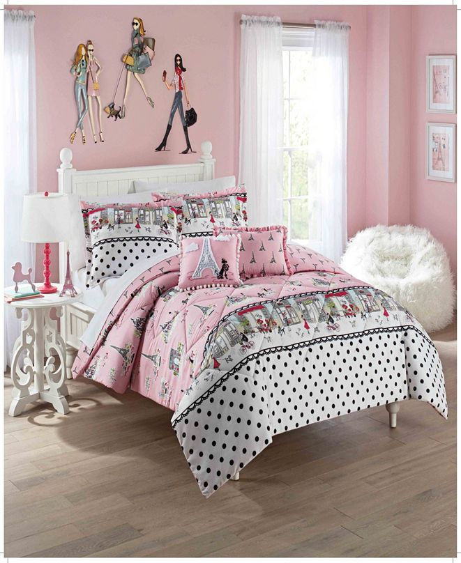 Waverly Kids Ooh La La Full/Queen Bedding Collection, 3 Piece