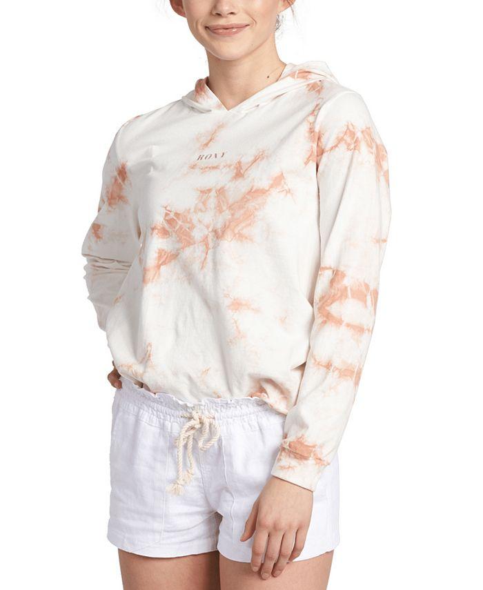 Roxy - Juniors' Tie-Dye Cotton Hooded Top