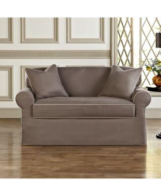 Superb Sure Fit Bahama 2 Piece Petite Sofa Slipcover