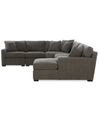 Radley 5 Piece Fabric Chaise Sectional Sofa Furniture Macy S