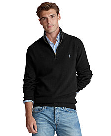 Polo Ralph Lauren Men's Cashmere Blend Quarter-Zip Sweater