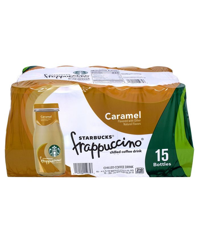 Starbucks Caramel Frappuccino Coffee Drink 9 5 Oz 15 Count Reviews Food Gourmet Gifts Dining Macy S