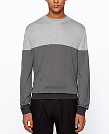 BOSS Men's T-Dinunzio Colorblock Sweater