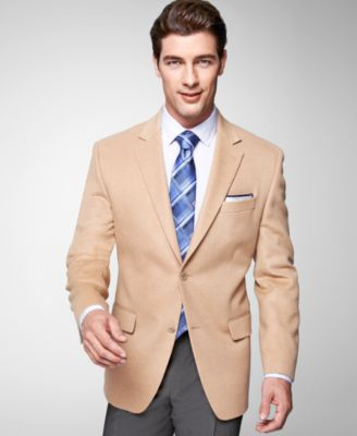 MICHAEL Michael Kors Solid Camel Hair Big and Tall Sport Coat