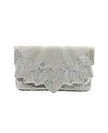 La Regale Art Deco Beaded Envelope Clutch