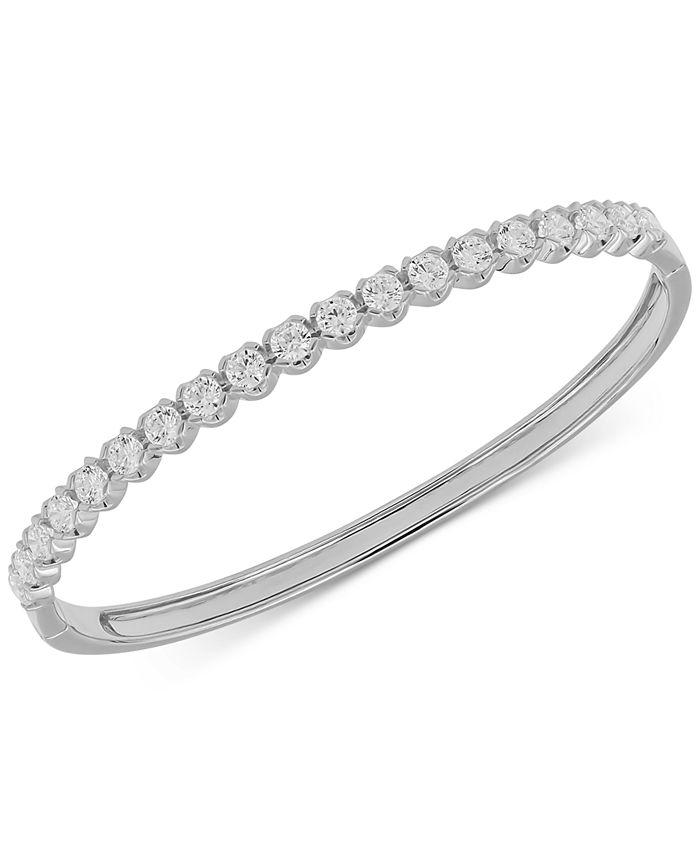 Macy's - Diamond Bangle Bracelet (3 ct. t.w.) in 14k White Gold