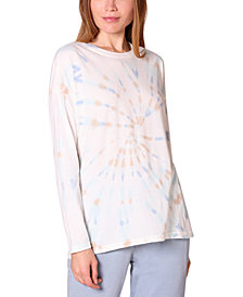 Ultra Flirt Juniors' Oversized Tie-Dyed Top