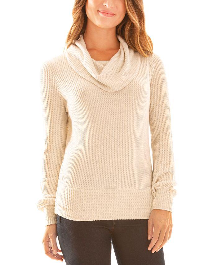 BCX - Juniors' Fuzzy Cowlneck Sweater