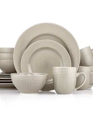 Thomson Poplin Silver 16-Piece Set  sc 1 st  Macy\u0027s & Thomson Poplin Ocean 16-Piece Set - Casual Dinnerware - Dining ...
