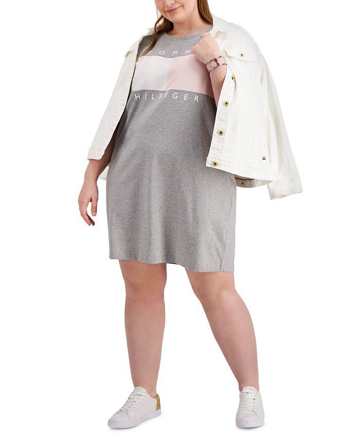 Tommy Hilfiger - Plus Size Short-Sleeve Logo Dress