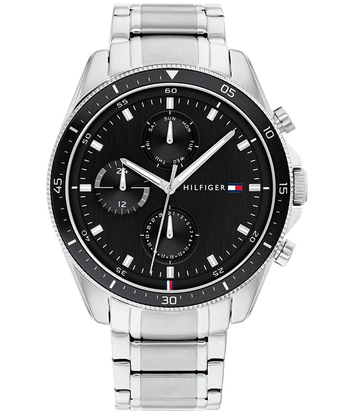 Tommy Hilfiger - Men's Chronograph Stainless Steel Bracelet Watch 44mm