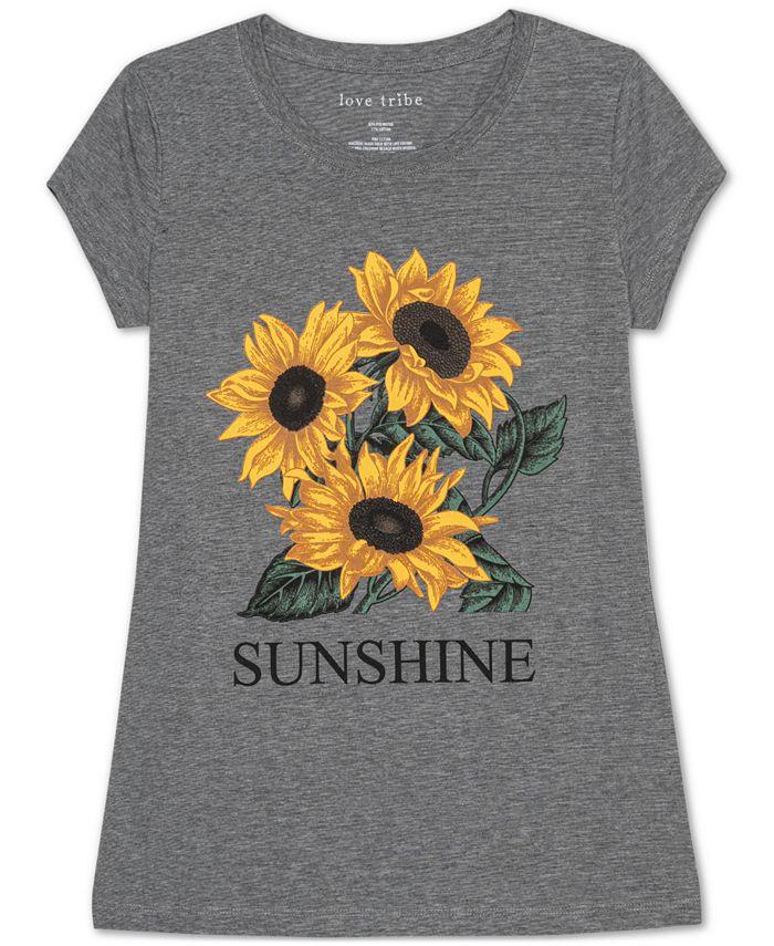 Love Tribe - Juniors' Sunflower Graphic T-Shirt