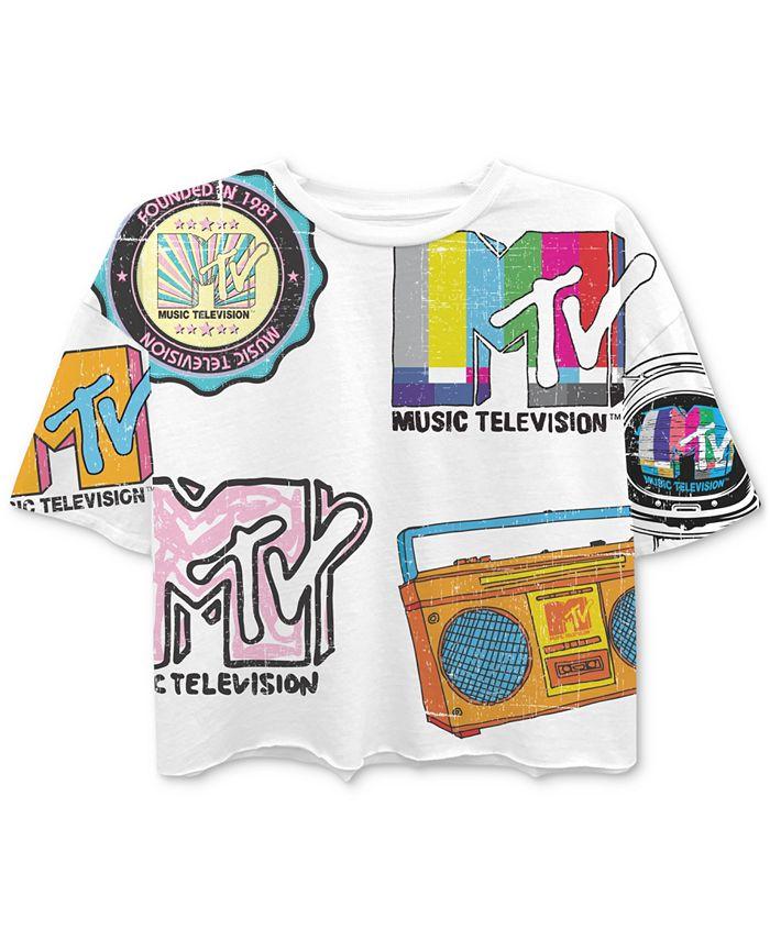 Freeze 24-7 - Juniors' MTV-Print T-Shirt