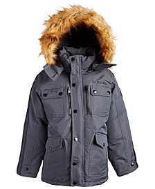 Diesel Big Boys Hooded Parka with Faux-Fur Trim