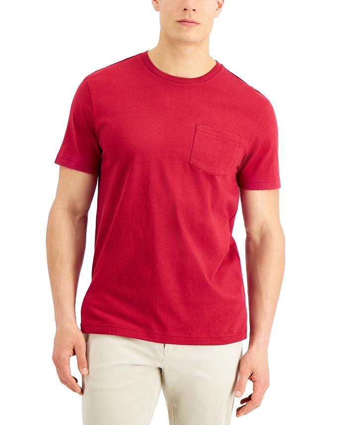 Club Room - Men's Solid Pocket T-Shirt