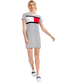 Tommy Hilfiger Striped Logo T-Shirt Dress