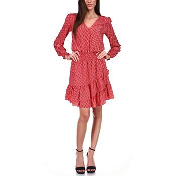 Michael Kors Printed Smocked A-Line Dress