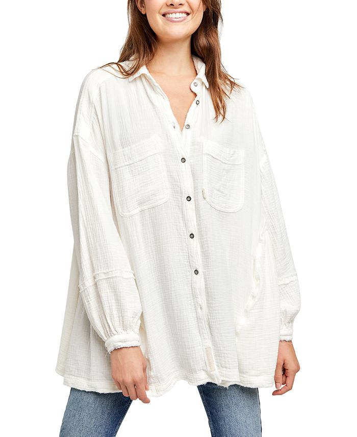 Free People - Anaheim Textured Button-Front Top