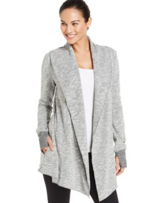 Betsey Johnson Fleece-Lined Draped Cardigan - Sweaters - Women ...